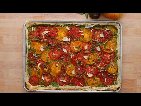 Heirloom Tomato Tart With Vegan Basil Ricotta