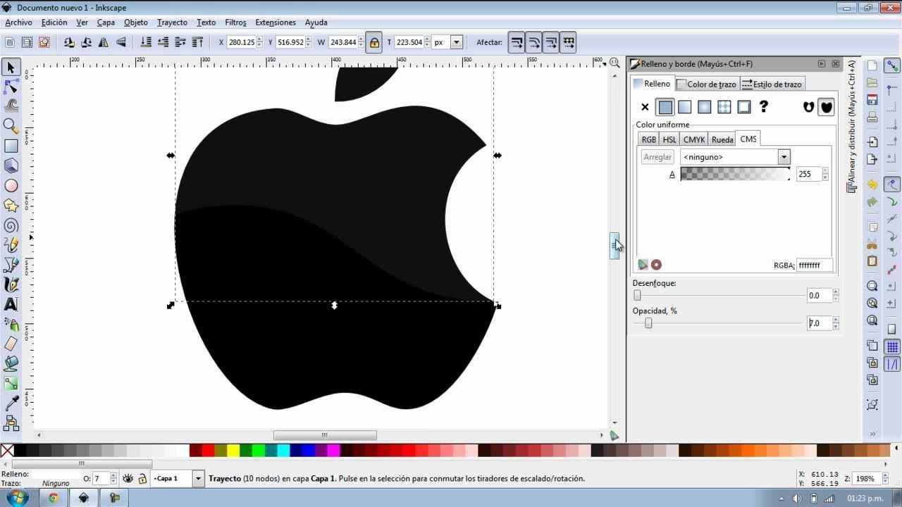 Inkscape Creando Logo Apple Youtube