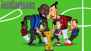 🏆⚽🔥 Milan vs Inter 🔥 Zlatan vs Lukaku  0-3 🏆⚽🔥