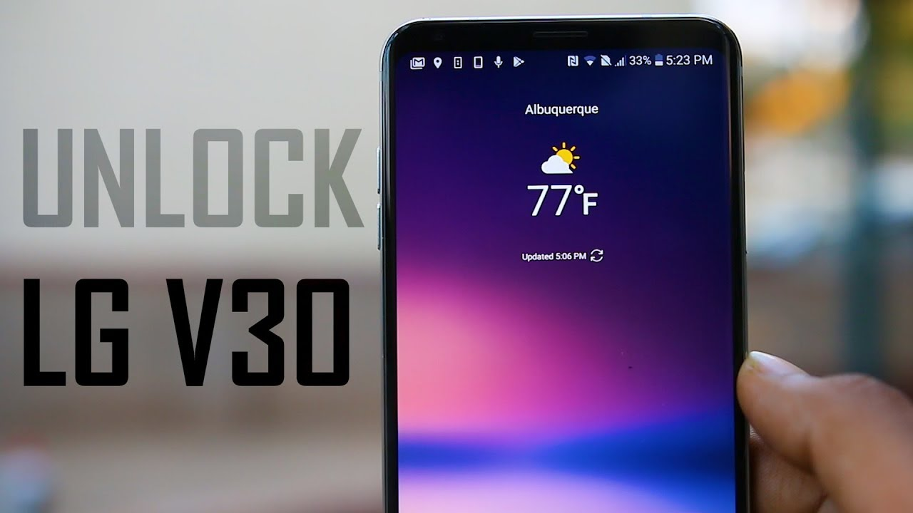 How To Unlock LG V30 (Plus) - At&t, T-Mobile & Any GSM Carrier