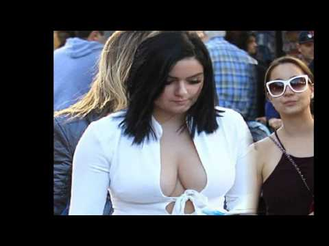 Jingle bells! Ariel Winter takes her family and her cleavage to see Santa at the Grove in LA