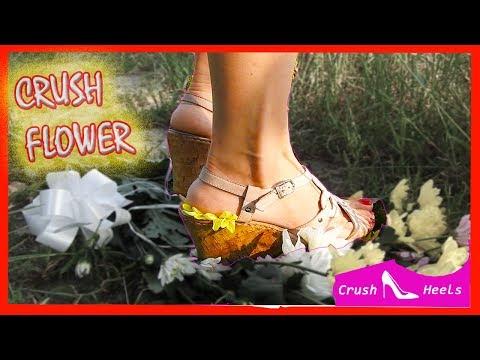 Crush Flower in Platform Wedge