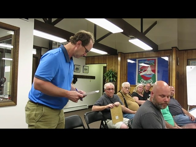 Peru Town Board Meeting  6-24-19