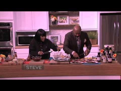 Steve Harvey cooks with Patti LaBelle