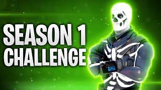 DIE SEASON 1 CHALLENGE! 🎃 | Fortnite: Battle Royale