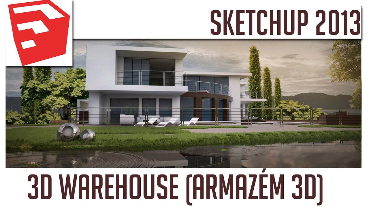 Tutorial sketchup 2013 3d warehouse armaz m 3d youtube for Sketchup 2013
