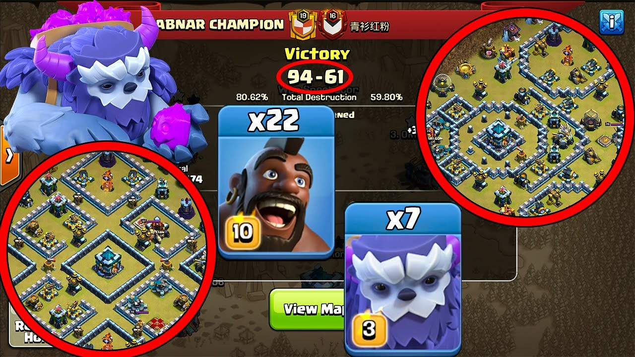 Yeti + Hog Super Strong Strategy! New Combo Attack Troops TH13 Attack Strategy - Clash of Clans