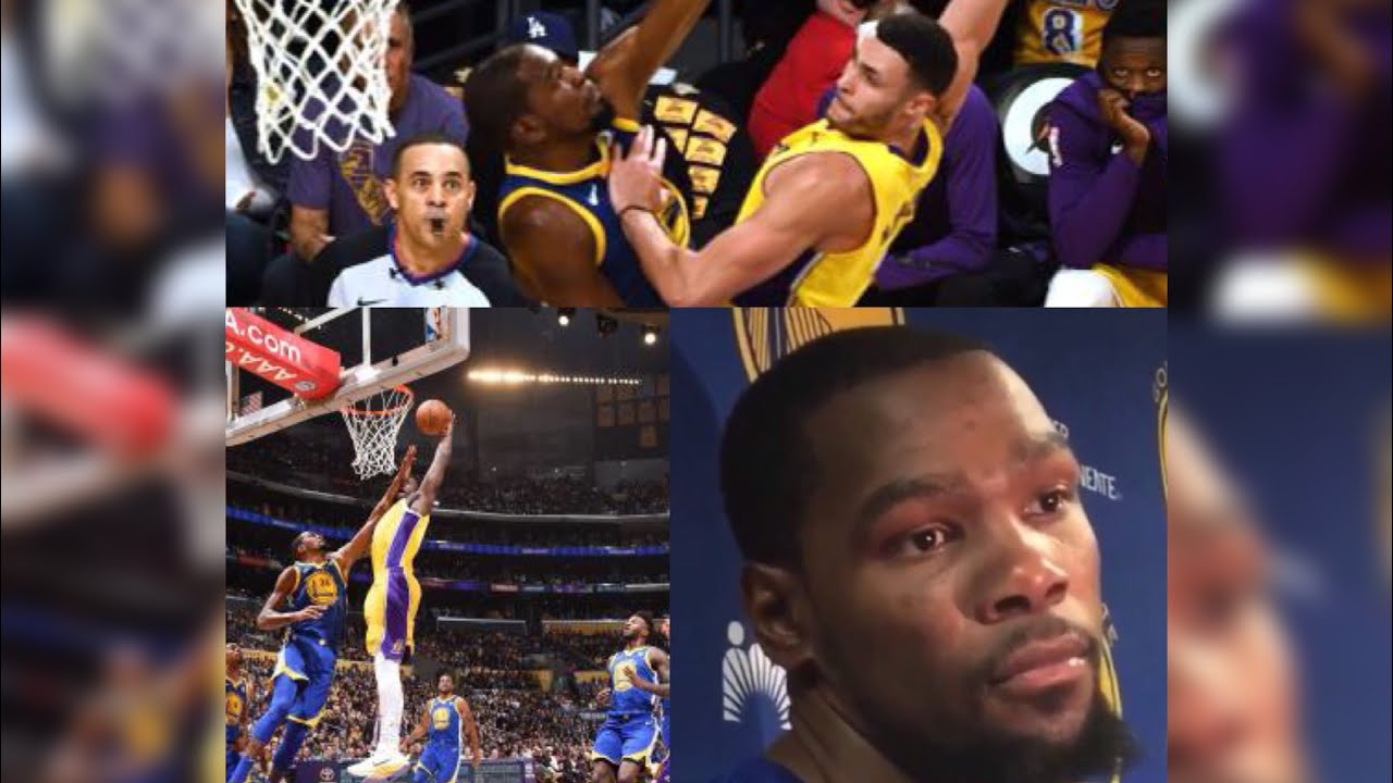 Kevin Durant Dunked on 3 Times in First Half vs Lakers - YouTube 2665fbf05