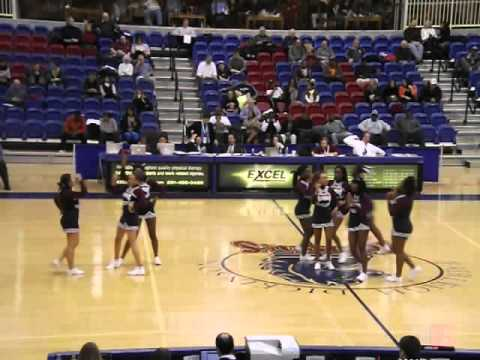 Fairleigh Dickinson Cheerleaders - CCSU vs FDU - Men's ...