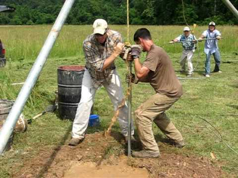 Manual well drilling, WFA method