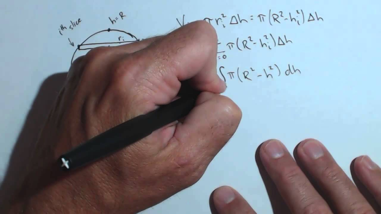 Formula for volume of sphere using slicing and definite integral formula for volume of sphere using slicing and definite integral ccuart Gallery