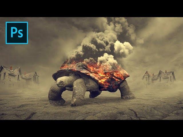 Fire Turtles - Photoshop Surreal Manipulation Tutorial