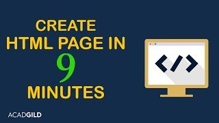 How to Create a HTML Page 2017 | HTML Basics | HTML Tutorial for Beginners