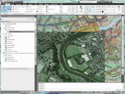 AutoCAD Civil 3D Working With Lidar
