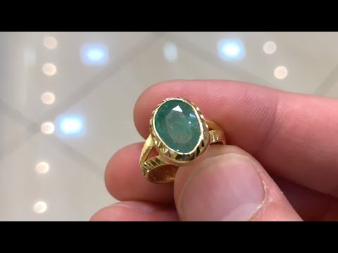 Making An Emerald Gold Ring 22k Gold JEWELRY MAKING