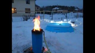 Нагреватель для бассейна Пеллетрон-D - подогрев наполненного бассейна