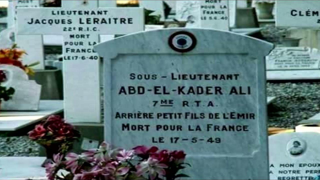 صورة صادمة عن عبد القادر علي حفيد الأمير عبد القادر الجزائري الذي مات من أجل فرنسا