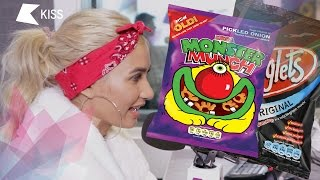 Pia Mia tries Monster Munch for the first time! | KISS