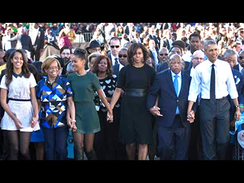 The Obamas March In Selma