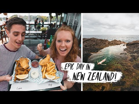 Trying New Zealand SHARK & CHIPS?? + Exploring BEAUTIFUL Mermaid Pools! 😍