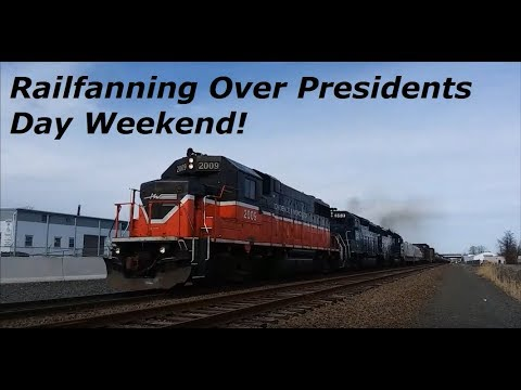 Railfanning Across Connecticut And Massachusetts Over Presidents Day Weekend 2-17 And 2-19-18