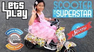 Skuter Anak 💖 Jessica Naik Motor Mini Mainan Scoopy / Scooter Full Matic
