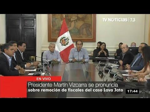 Presidente Vizcarra anuncia aprobación de proyecto que declara en emergencia la Fiscalía