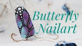 💅💅 Butterfly Nails 💅💅 :: Tęczowe Skrzydełko Motyla :: Nailart by Natalia