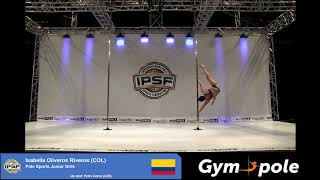 WPSC19 - Pole Sports - Junior Girls - Isabella Oliveros Riveros - Colombia