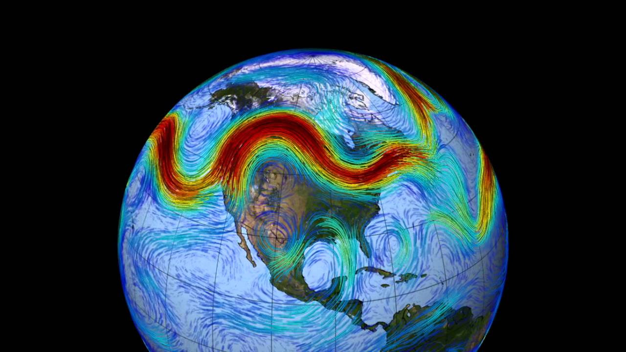 The Northern Hemisphere Jet Stream Animation From NASA YouTube - Us weather map with jet stream