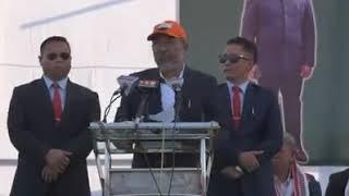 CM Biren speech on CAB after reaching Imphal at Hapta kangjeibung .