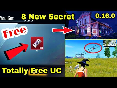 PUBG Mobile 8 New Secret 0.16.0 | Free UC Trick PUBG Mobile | All About New Update