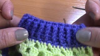 Урок 18  Вязание манжеты для рукава без шва