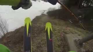 How to ski on grass (and a little bit of snow)