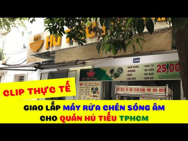 [HOT] Máy rửa chén bát sóng siêu âm mini cho quán hủ tiếu TPHCM| Hotline 0936.686.030 | VinaIrato