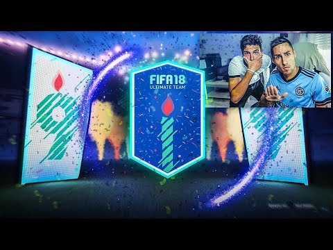 PLUIE DE FUTBIRTHDAY ET DE GROS JOUEURS AVEC MON FRERE !!! FIFA 18 PACK OPENING