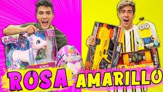 24 HORAS COMPRANDO TODO ROSA Y AMARILLO !!