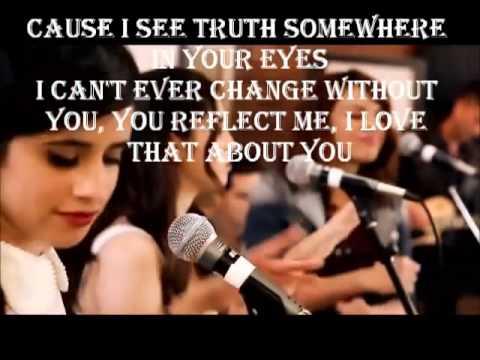 Justin Timberlake Mirrors Boyce Avenue feat  Fifth Harmony cover lyrics on screen