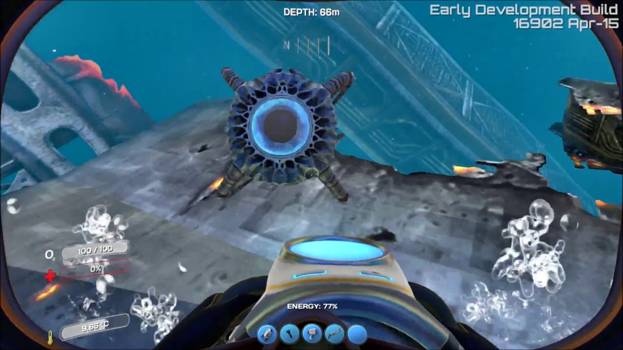 subnautica how to start build mode