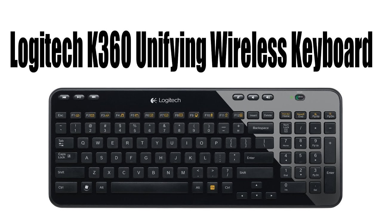 Logitech K360 Unifying Wireless Keyboard Unboxing and Review