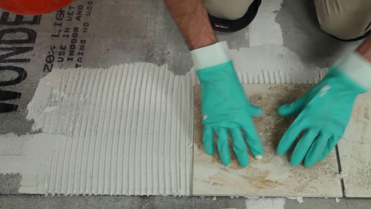 Comment installer du carrelage en céramique ou en porcelaine - YouTube