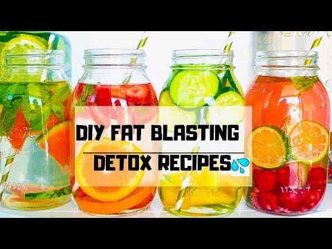 DIY DETOX BELLY FAT BURNERS !🔥 4 Detox Water Recipes for Weight Loss, Clear Skin & Energy !!