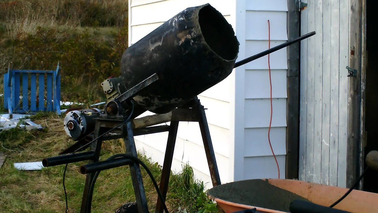 homemade cement mixer - YouTube