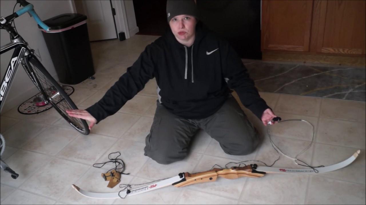 How to string a bow - PSE Razorback Takedown Recurve bow