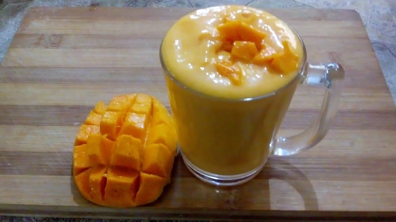 Mango milk shake / smoothie  healthy diet within minutes