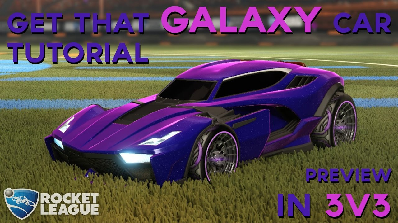Get That Galaxy Car Tutorial Review In 3v3 Ranked Rocket League Youtube