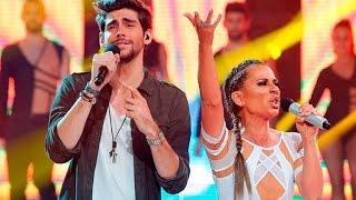 Vicky Larraz imita a Jennifer Lopez y Álvaro Soler en