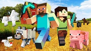BUILDING OUR FARM!! MINECRAFT w/ MY GIRLFRIEND!! (Minecraft #6)