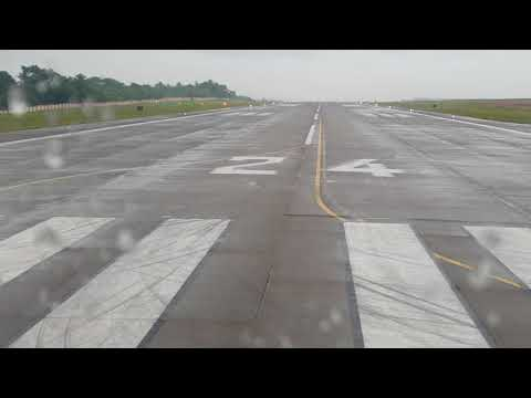 Air India Express take off from Mangalore International Airport to Bahrain.