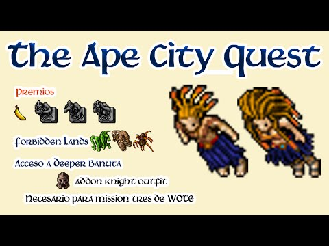 Tibia: Banuta Quest Completa - The Ape City - Shaman Outfit